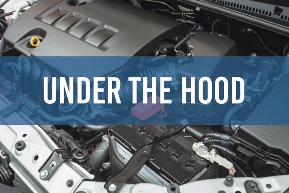 Application car under the hood